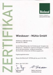 Bioland - Zertifikat